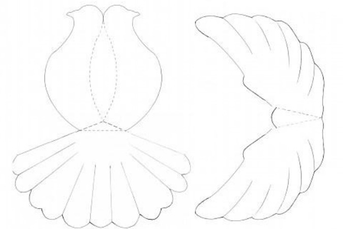 сделать бумажных голубей,